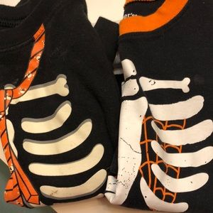 Skeleton glow in the dark shirts
